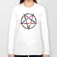 pentagram Long Sleeve T-shirts featuring Pentagram by YEAH RAD STOKED