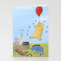 pooh Stationery Cards featuring Winnie the Pooh by Marilyn Rose Ortega