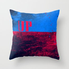 UP: over and under, earth and sky Throw Pillow