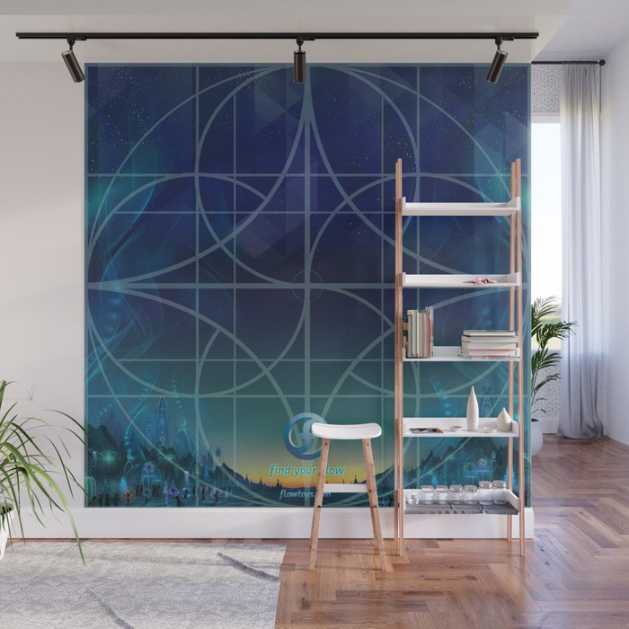 dawn training grid Wall Mural