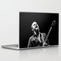 caleb troy Laptop & iPad Skins featuring Caleb Followill (Kings of Leon) - I by Tomás Correa Arce (RockMe TommyBoy)