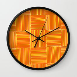 Red & Yellow Criss Cross Wall Clock