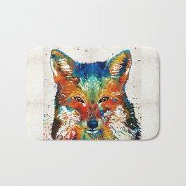Colorful Fox Art - Foxi - By Sharon Cummings Bath Mat