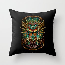 S'Owl Keeper Throw Pillow