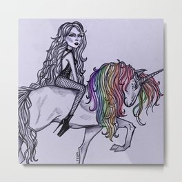 Highway Unicorn (Road to Love) Metal Print