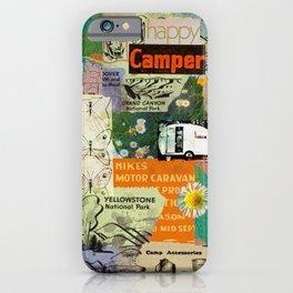 RETRO CAMPING COLLAGE iPhone Case