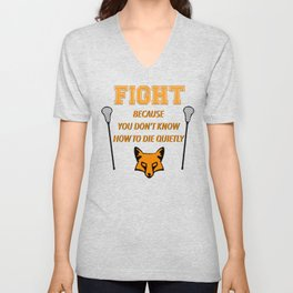 """The Foxhole Court – """"Fight"""" – All For The Game Unisex V-Neck"""