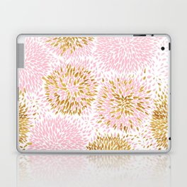 Pink and Gold Watercolor Floral Laptop & iPad Skin