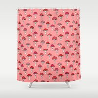 mushroom Shower Curtains featuring Mushroom by Abby Galloway