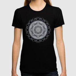 Mandala  denim photocollage T-shirt