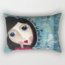 Coco's Closet- Be Kind. Be Brave. Be Honest. Be Daring Rectangular Pillow