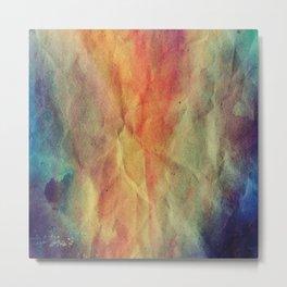 Crumpled Paper Textures Colorful P 394 Metal Print
