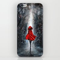 red hood iPhone & iPod Skins featuring Little Red Riding Hood by Annya Kai