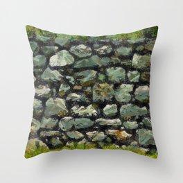 stone-wall Throw Pillow