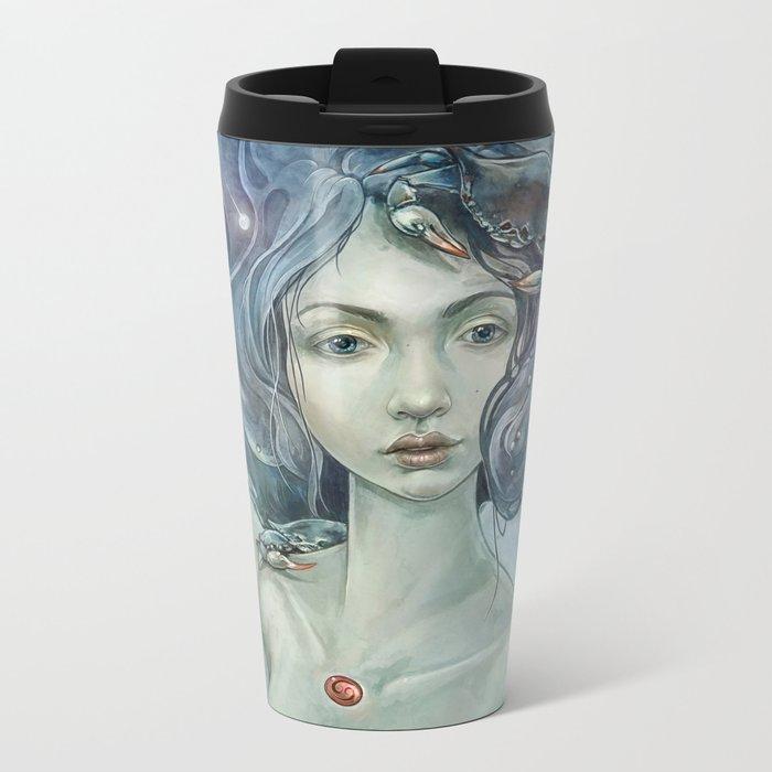 Zodiac Cancer Metal Travel Mug