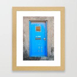 The Blue Door Framed Art Print