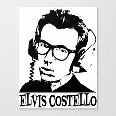 Elvis Costello | Headphones Canvas Print