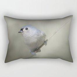 Little Tufted Titmouse Rectangular Pillow
