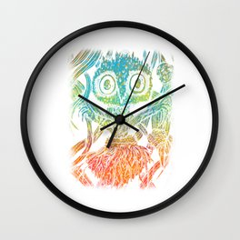 Trippy Psychedelic Spider Aesthetic Artistic Wall Clock
