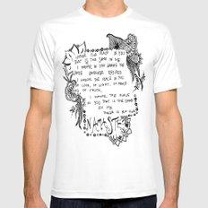 Namaste Doodle Mens Fitted Tee White MEDIUM