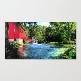 A Day at Abbey Mill Canvas Print
