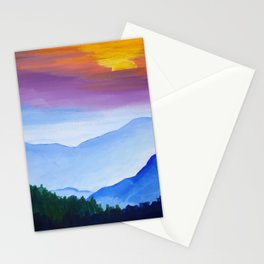 Smokey Mountain Sunset Stationery Cards