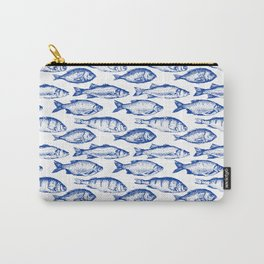 Dark Blue Fish Carry-All Pouch