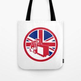 British Logistics Union Jack Flag Icon Tote Bag
