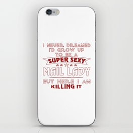 Super sexy mail lady iPhone Skin