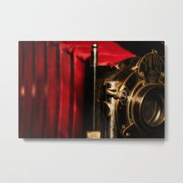 Scarlet a vintage Kodak folding camera retro art Metal Print