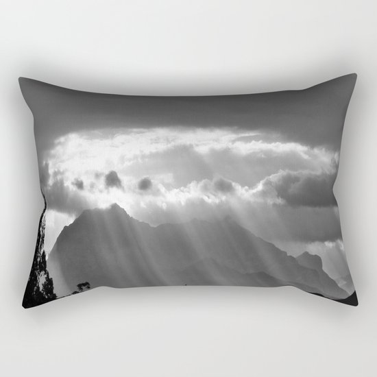 Rays From The Sky Rectangular Pillow