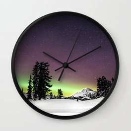 Elfin Lake Aurora Wall Clock