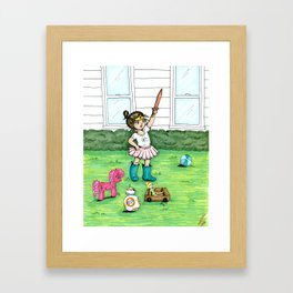 A Girl And Her Army Framed Art Print