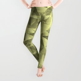 Abstract Geometrical Triangle Patterns 3 VA Lime Green - Lime Mousse - Bright Cactus Green - Celery Leggings