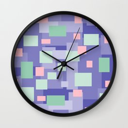Matted Purple Mix - Color Therapy Wall Clock