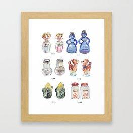 Collection of Vintage Salt & Pepper Shakers Framed Art Print