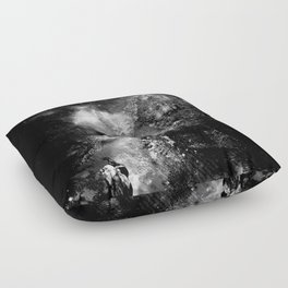 I'll wait for you black white version Floor Pillow
