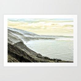 Somewhere over Big Sur. Art Print