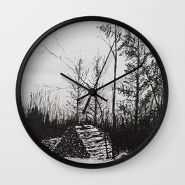 Winter Woodlot Wall Clock