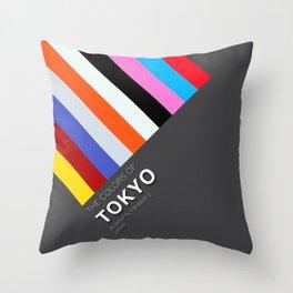 Colors of Tokyo Throw Pillow