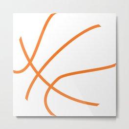Basketball Illustration Metal Print