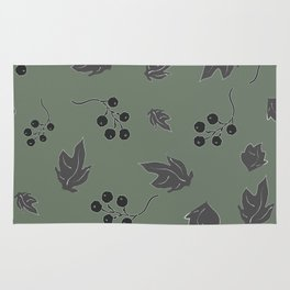 Seamless pattern with floating leaves on the wind Rug