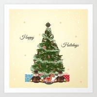 christmas tree Art Prints featuring Christmas Tree by haroulita