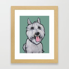 Levi the Miniature Schnauzer Framed Art Print