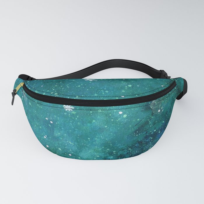 Watercolor galaxy - teal Fanny Pack