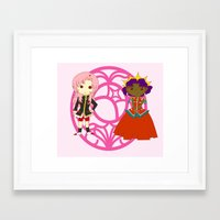 utena Framed Art Prints featuring Be my rose bride by Missaurelie