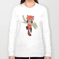 red panda Long Sleeve T-shirts featuring Red Panda by Freeminds