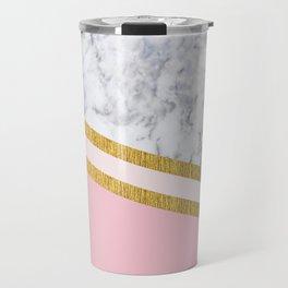 St Lucia striped blush marble Travel Mug