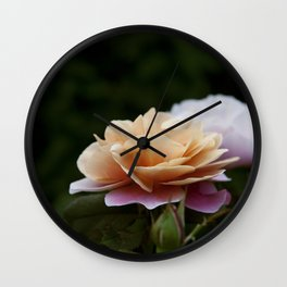 Lily Pad Rose Wall Clock
