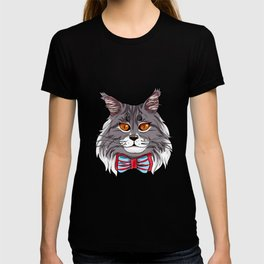 Maine Coon Cat Face Cats Love cute funny lovely T-shirt